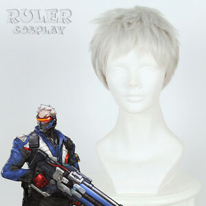 Overwatch-OW-Soldier-76-Short-Silver-Gray-Cosplay-Wig-Heat-Resistent-Hair-Wigs