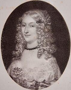 ANNE-GENEVIEVE-DE-BOURBON-DUCHESSE-DE-LONGUEVILLE-Portrait-lithographie-1821