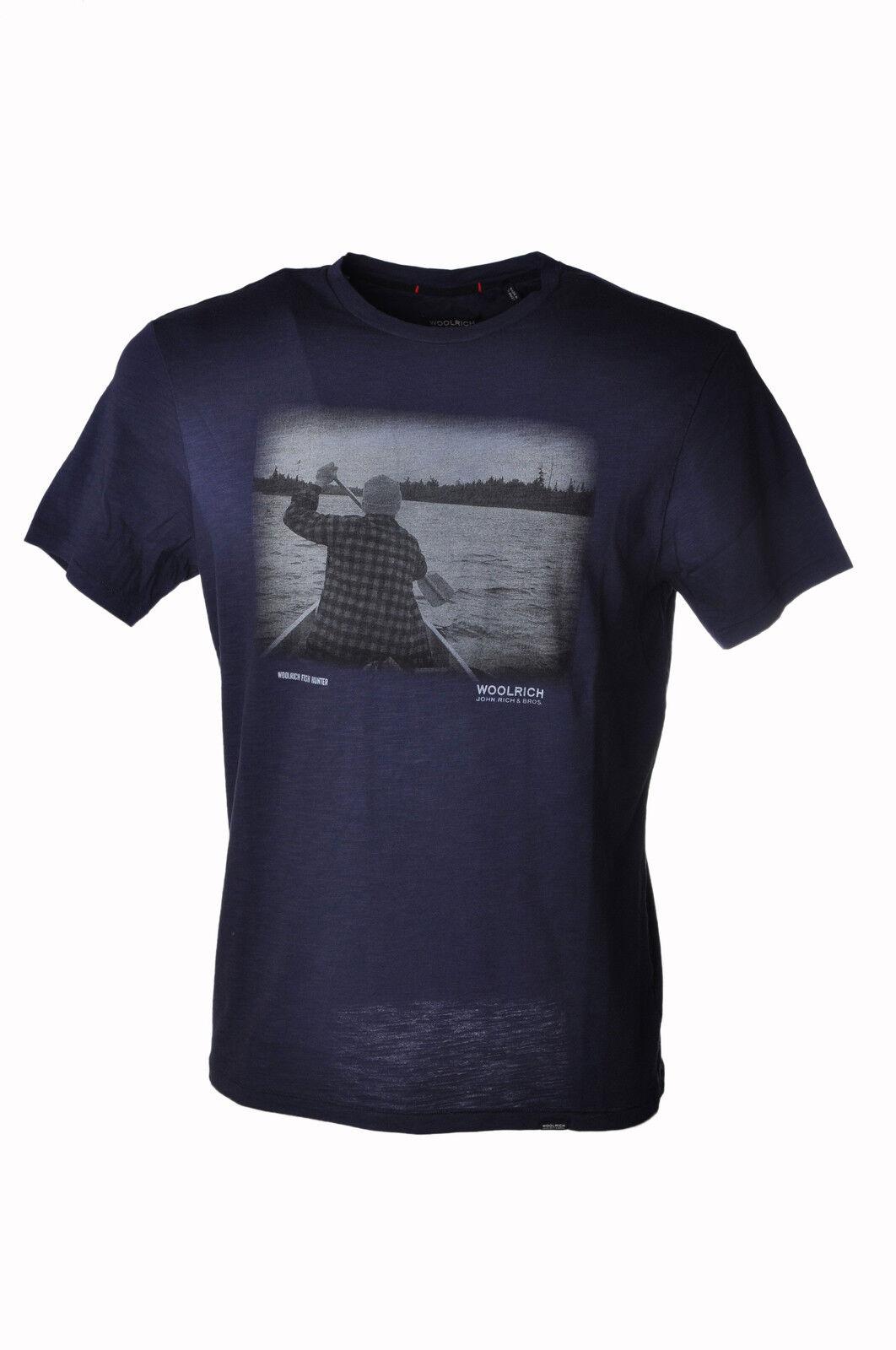Woolrich - Topwear-T-shirts - Uomo - Blu - 3563411H184425