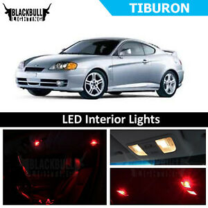Details About Red Led Interior Lights Replacement Package Kit For 2003 2008 Hyundai Tiburon