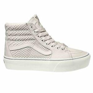 neue Produkte für großer Lagerverkauf viele modisch Details about Vans Sk8 Hi Platform 2.0 Size 10 Leather Unisex Footwear Shoe  Snake White