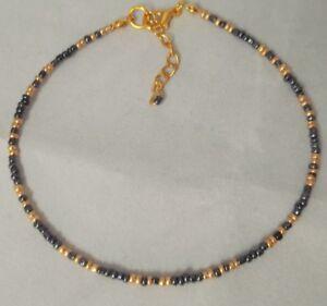 Boho glass bead anklet