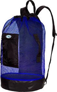 Stahlsac Panama Scuba Diving Travel Mesh Backpack Gear Bag Blue NEW