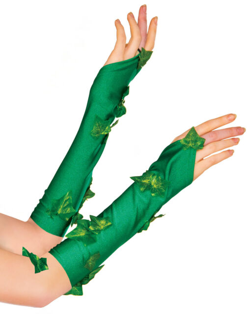 Green Adult Poison Ivy Gloves Gauntlets Adult One Size