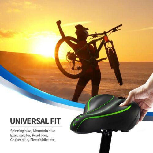 Big Bum Wide Comfort Bike Bicycle Waterproof Soft Pad Saddle Seat Shock Absorber