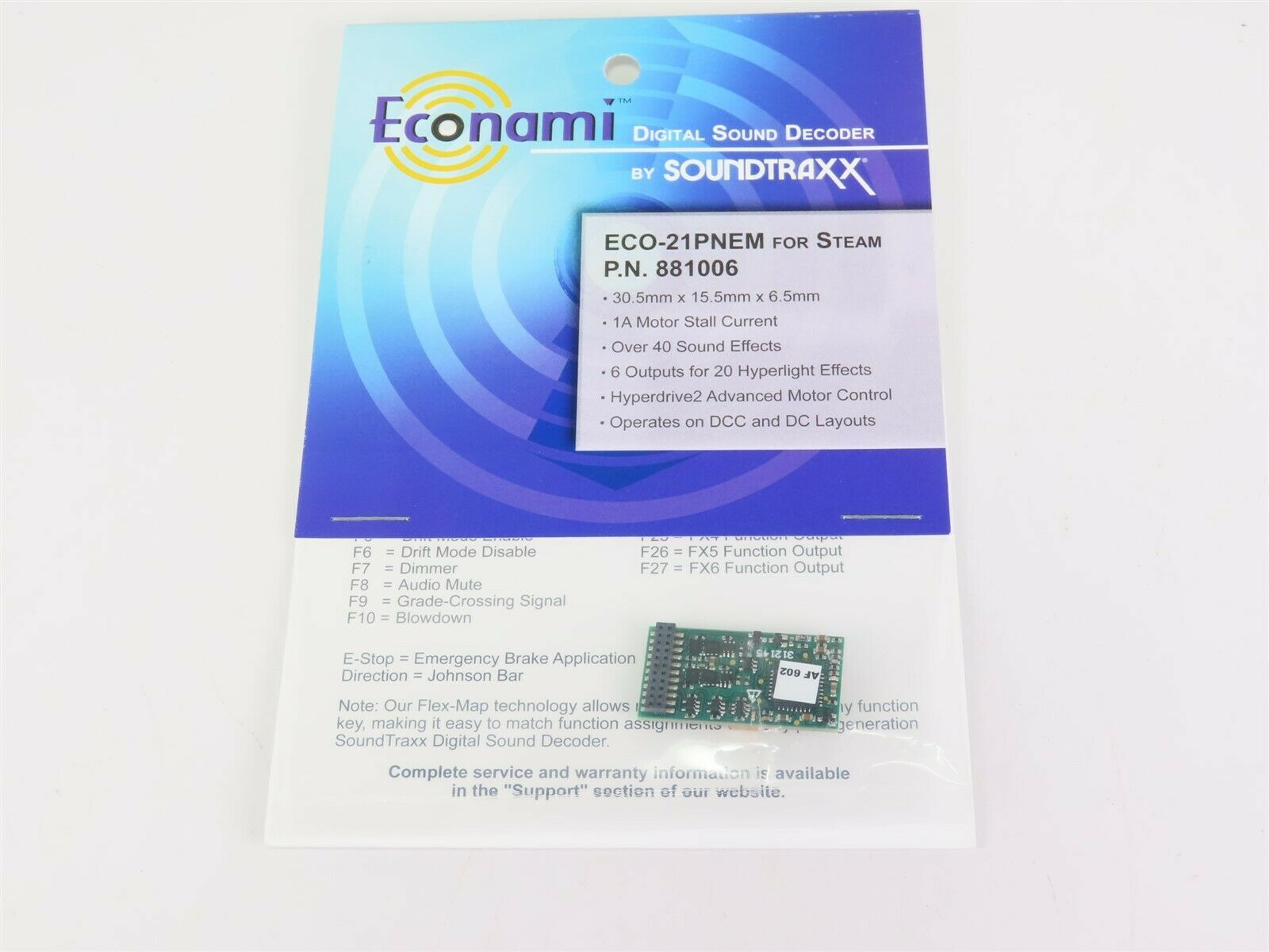suonotraxx econami ECO 21 pnem 881006 vapore DCCsuono Decodificatore