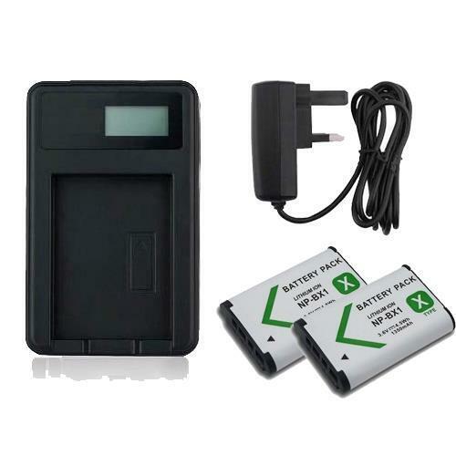 2X Battery NP-BX1 Sony Cybershot DSC-H400 FDR-X1000V Battery Charger PVOLT
