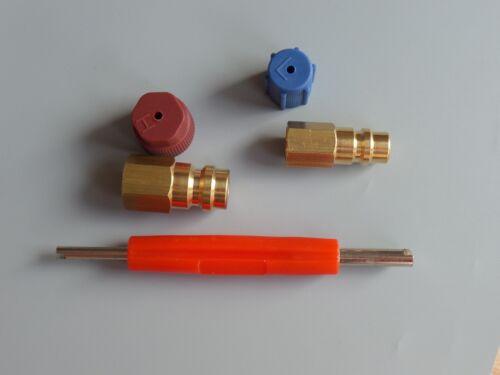 Adapter Retrofit Klimaanlagen Umrüstsatz R12 auf R134a Ventilkernentfernsatz