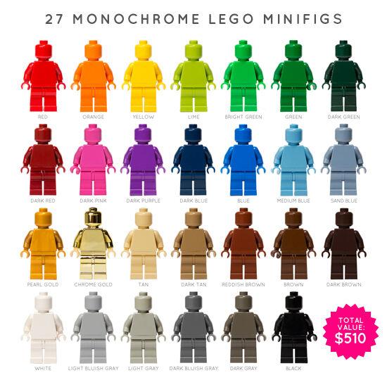 LEGO  27 x Monochrome Minicifras  (MONOFIGS)  vendita online