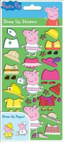 Peppa Pig DRESS UP STICKERS Dressing Doll Party Reusable Loot Bag Filler Gift UK