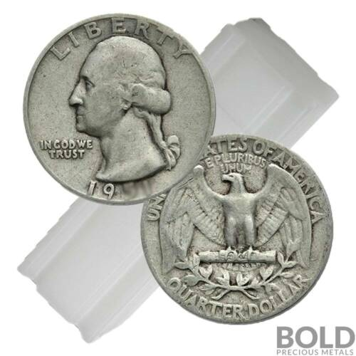 90/% Silver $10 FV Washington Quarter Circulated