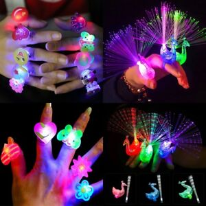 10Pc-Kids-Party-Favors-Glow-in-The-Dark-Finger-Light-Up-Glow-Rings-LED-Kids-Toys