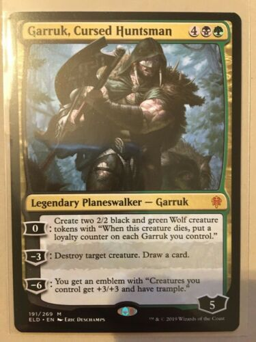 Cursed Huntsman NM//M 191//269 MTG Throne of Eldraine Garruk