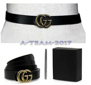 Womens-Genuine-Leather-Thin-Belts-For-Jeans-0-9-Belt-For-Women-039-s-Pants-034-GG-034-HOT