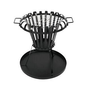 feuerkorb mit bodenplatte grill gartenfeuer grillrost feuerstelle terrassefeuer ebay. Black Bedroom Furniture Sets. Home Design Ideas