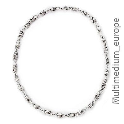 Jugendstil Silber Kette Collier Knoten Handarbeit Silver Necklace Knots