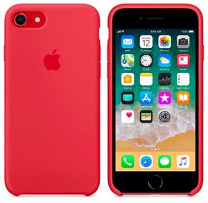 iPhone-8-7-SE2020-4-7-Apple-Echt-Original-Silikon-Schutz-Huelle-Himbeerrot