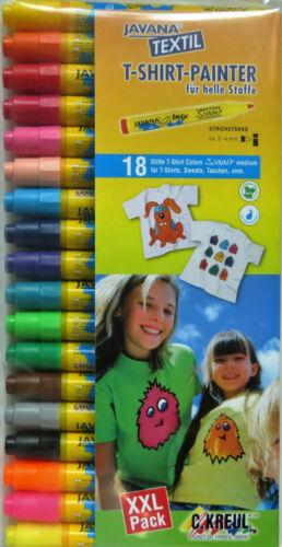 12 18 Stoffmalstifte Kreul Javana Textilmalstifte Textilmarker Stofffarbstifte