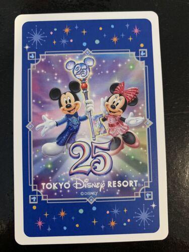 Swap Playing Cards 1 Japanese Tokyo Disney sea resort Mickey /& Minnie 25th A376