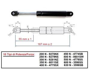 PISTONE-PISTONCINO-MOLLA-A-GAS-Interasse-167-mm-10-Tipi-di-Forza-RICAMBIO