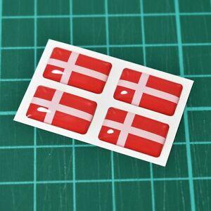 4x-Denmark-Danish-Flag-Domed-Stickers-High-Gloss-Raised-Gel-Finish