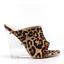 Cape-Robbin-BOA-BABE-Leopard-Open-Toe-Clear-Lucite-Wedge-Heel-Mule thumbnail 1