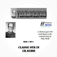 MARY SHELLY'S FRANKENSTEIN - 13 Shows Old Time Radio OTR On 3 Audio CDs