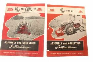Vintage Ford Tractor Lift Type Mower & Scoop Attachment Manuals 1947 & 1950