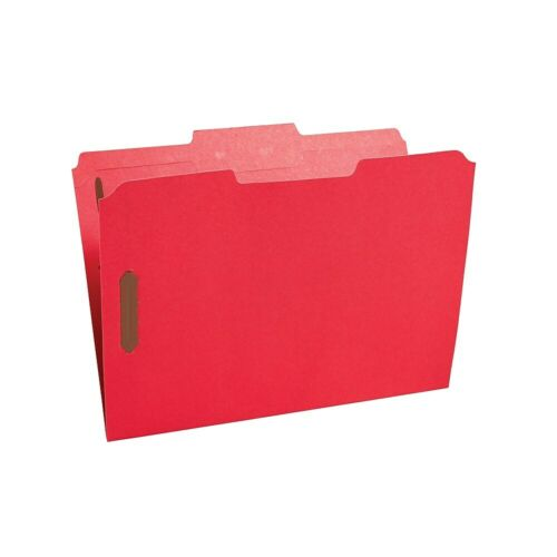 Staples Colored Reinforced Tab Fastener Folders Letter Size Red 50//Box 807791