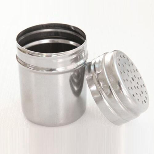 Nous en acier inoxydable Salière Poivrière Poivre Assaisonnement Condiment Boîte à épices shaker bouteille