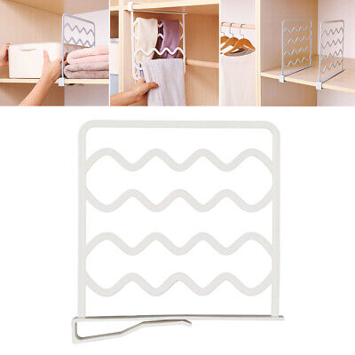 Closet Shelf Dividers Wardrobe Partition Shelves Divider Clothes Wire JH