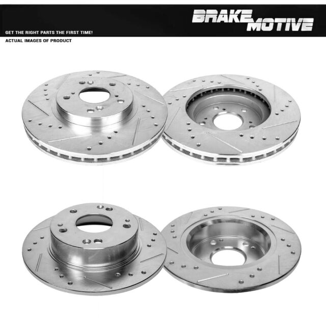 Front Rear Rotors Calipers For 2004-2007 2008 Acura TSX