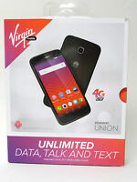 Virgin Mobile - Huawei Union 4g Lte Prepaid Cell Phone - Black No Contract