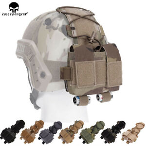 Emerson-Tactical-Pouch-MK2-Battery-Case-for-Helmet-Hunting-Camo-500D-Nylon-Bag