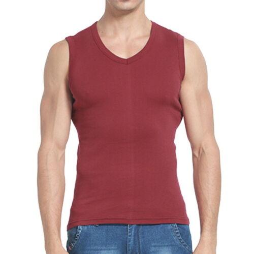 Herren Weste T-shirts Bodybuilding Slim Fit Ärmellos Sommer Nachtwäsche Tanktop