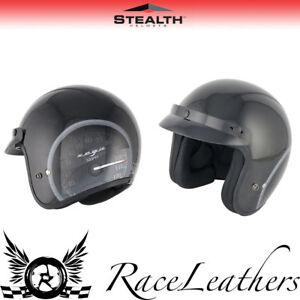 Copieux Stealth Hd320 Noir Compteur Ouvert Moto Scooter Cruiser Ville Casque