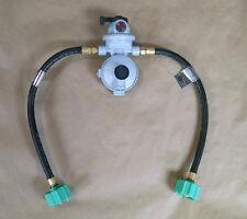 "Fairview RV Camper LP / Propane 2 Stage Auto Gas Regulator 15"" QCC Acme Pigtails"