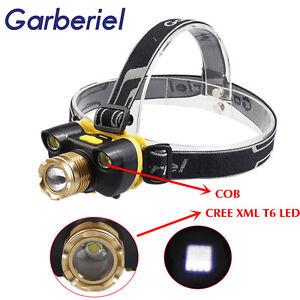 Neu-XM-L-3x-T6-LED-Wiederaufladbare-18650-USB-Scheinwerfer-Kopflicht-Zoomable