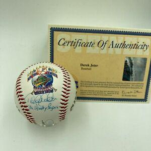 """Derek Jeter """"The Dynasty Begins"""" Signed 1996 World Series Baseball Steiner COA"""
