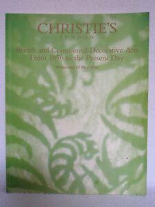 Catalogue Art décoratif Art deco Art Nouveau 238 pages / 471 photos Christie's