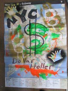 Nyc Subway Map Ebay.Details About Urban Street Art Dollar Money Theme Graffiti Poster New York City Subway Map