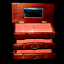 miniature 2 - Vintage Wooden Jewellery Box Pink Velvet Lined Two Drawers and Opening Lid Rare