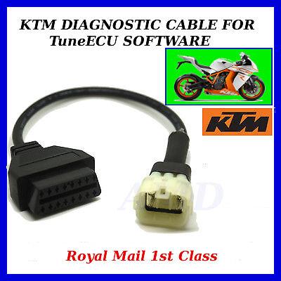 TRIUMPH KTM BIKE TUNEECU KTM 6 PIN TO 16 PIN ADAPTOR INTERFACE CABLE