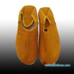 36a6cc6fc954c Details about Brown Moroccan leather Slippers/Babouche