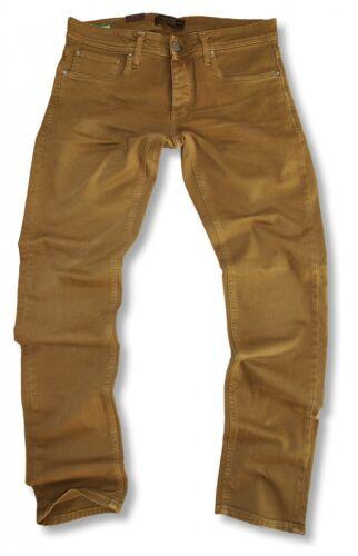 Jack /& Jones-Tom Classic-GOLDEN BROWN-Skinny Fit-Jeans Uomo Pantaloni Nuovo