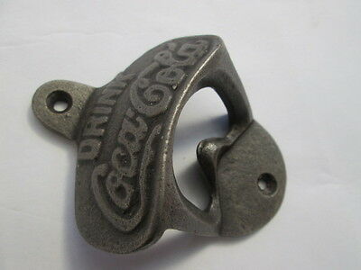 Old Vintage Antique style Cast Iron Collectable Coke Beer Bottle Opener