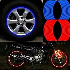 18 strisce moto auto ruota pneumatico adesivi riflettenti Rim Tape adesivi