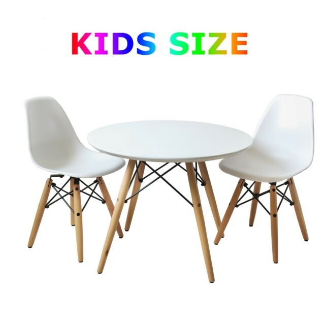 Cool Set Of White Modern Style Kids Table And Two Modern Chairs Gmtry Best Dining Table And Chair Ideas Images Gmtryco
