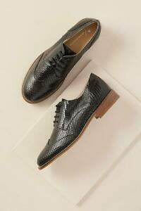 Anthropologie-Black-Textured-brogues-Size-37-EUR-5-UK-Leather-Quality