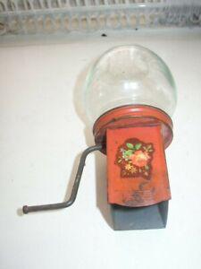 Vintage-Rare-Glass-Tin-Floral-Food-Grinder